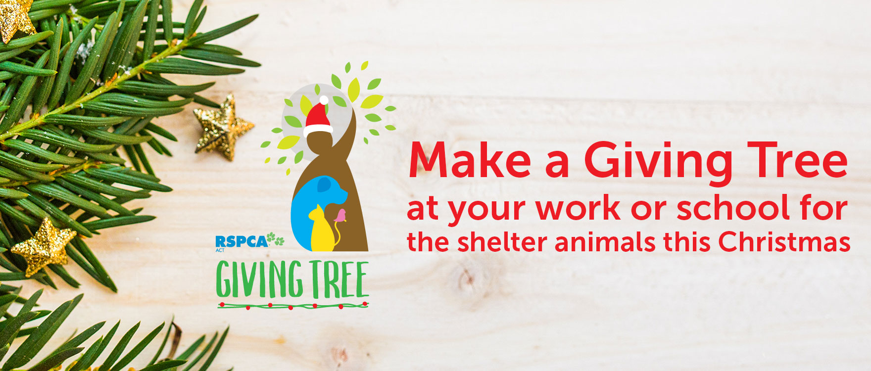 Make a Giving Tree at your work or school for shelter animals this Christmas